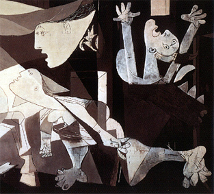 the interpretations of guernica Guernica is a painting produced  two dominant motifs in picasso's art bull and horse are clearly visible in guernica and causing a variety of interpretations,.